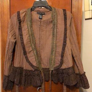❤️😘Nwot Stunning vintage beaded ruffle Jacket!!